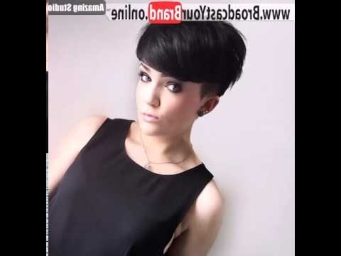 Perfect Choppy Pixie Haircuts With Temple Undercut – Youtube With Widely Used Pixie Bob Haircuts With Temple Undercut (View 9 of 15)