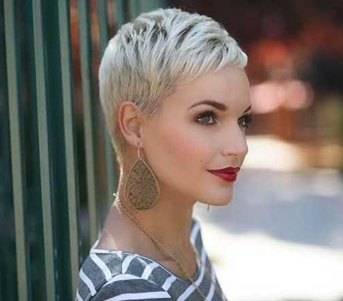 Featured Photo of Bleach Blonde Pixie Haircuts