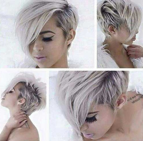 Pinterest Inside Most Up To Date Silver And Brown Pixie Haircuts (View 10 of 15)