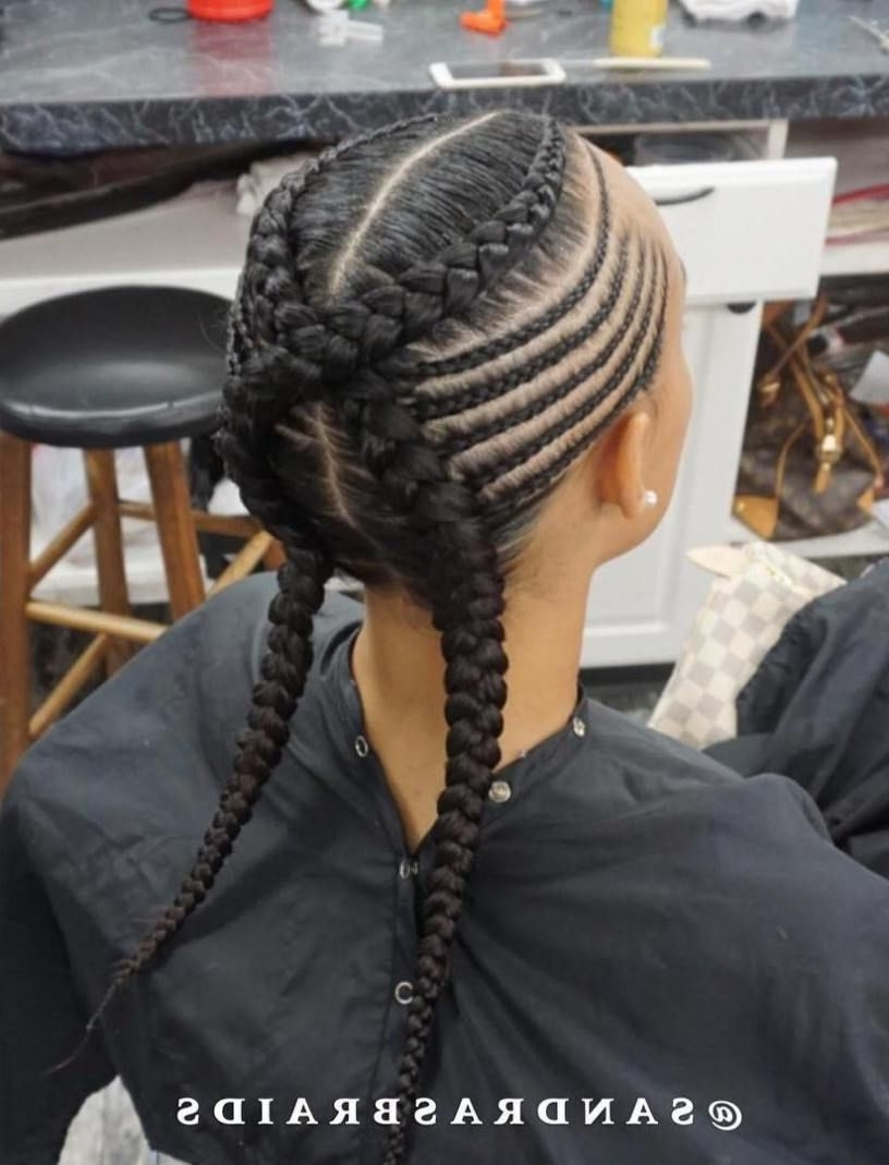 Pinterest Within 2018 Criss Crossed Braids With Feed In Cornrows (View 13 of 15)