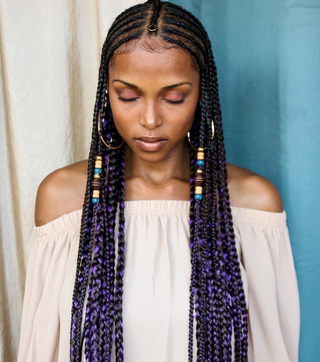 Pinterest Within Best And Newest Classic Fulani Braids With Loose Cascading Plaits (View 15 of 15)