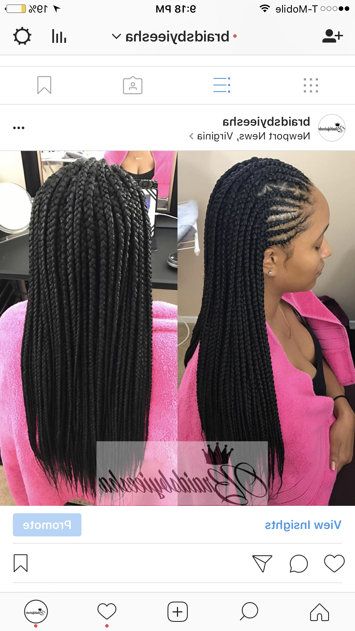 Pinterest Within Latest Half Cornrows Half Individual Braids (View 4 of 15)