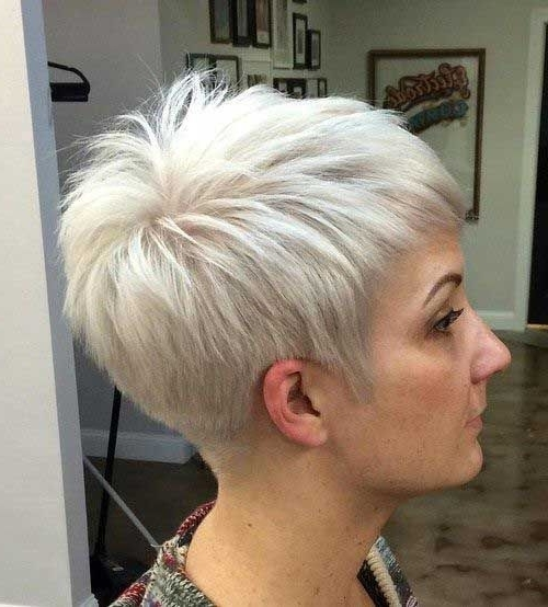 Pinterest Within Most Current Ashy Blonde Pixie Haircuts With A Messy Touch (View 3 of 15)