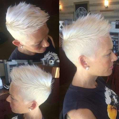 Pixie Inside 2017 Spiked Blonde Mohawk Haircuts (View 13 of 15)