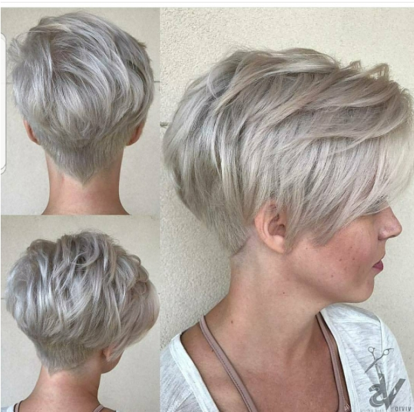 Featured Photo of Stacked Pixie Haircuts With V Cut Nape