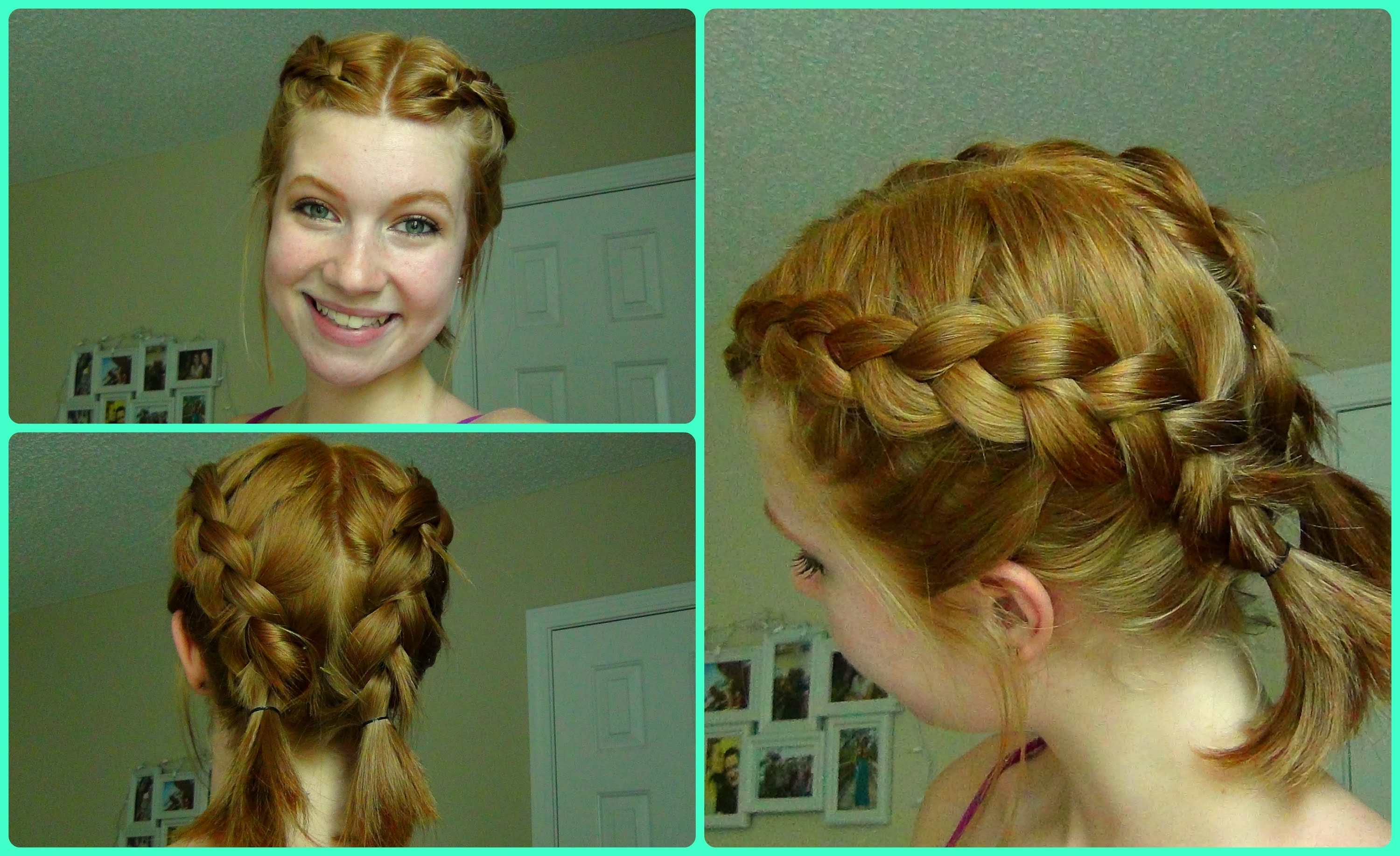 Pool/beach Dutch Braids ~ Short Hair – Youtube Inside Most Current Chunky Two French Braid Hairstyles (View 2 of 15)