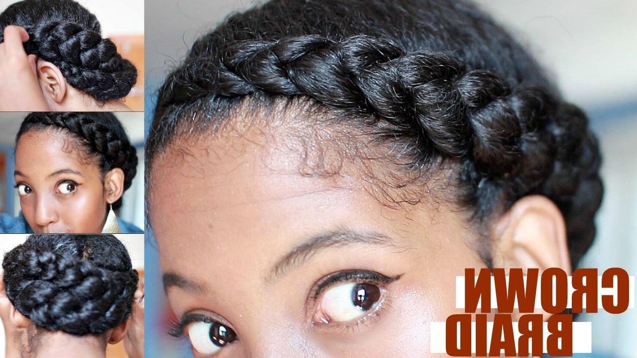 Popular Asymmetrical Goddess Braids Hairstyles Regarding Effortless Crown Braid For Natural Hair (View 13 of 15)