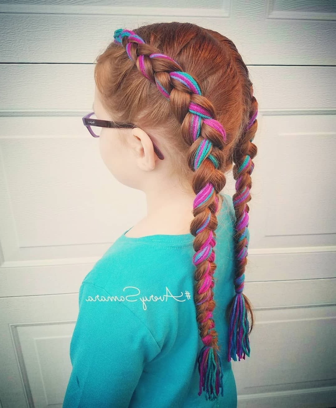 Popular Braided Yarn Hairstyles In Yarn Braid. Dutch Braid. Easy Hairstyles. Easy Braids (View 14 of 15)