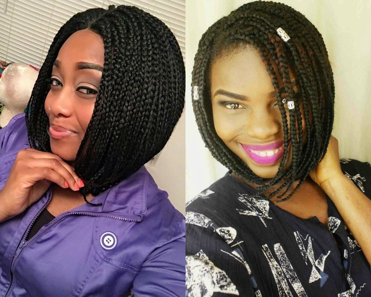 Popular Cornrows Bob Hairstyles With For Black Women, Braids Bob Hairstyles Are The Most Popular And (View 11 of 15)