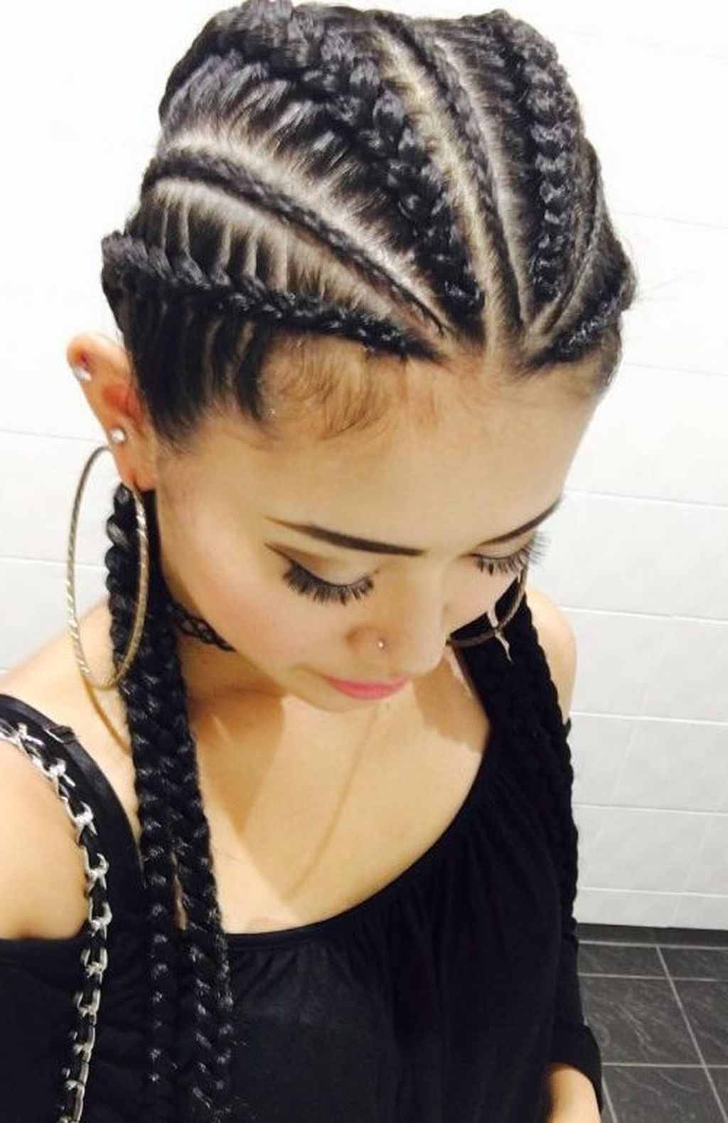 Popular Creative Cornrows Hairstyles Regarding Cool 49 Super Cute And Creative Cornrow Hairstyles Ideas You Can Try (View 14 of 15)