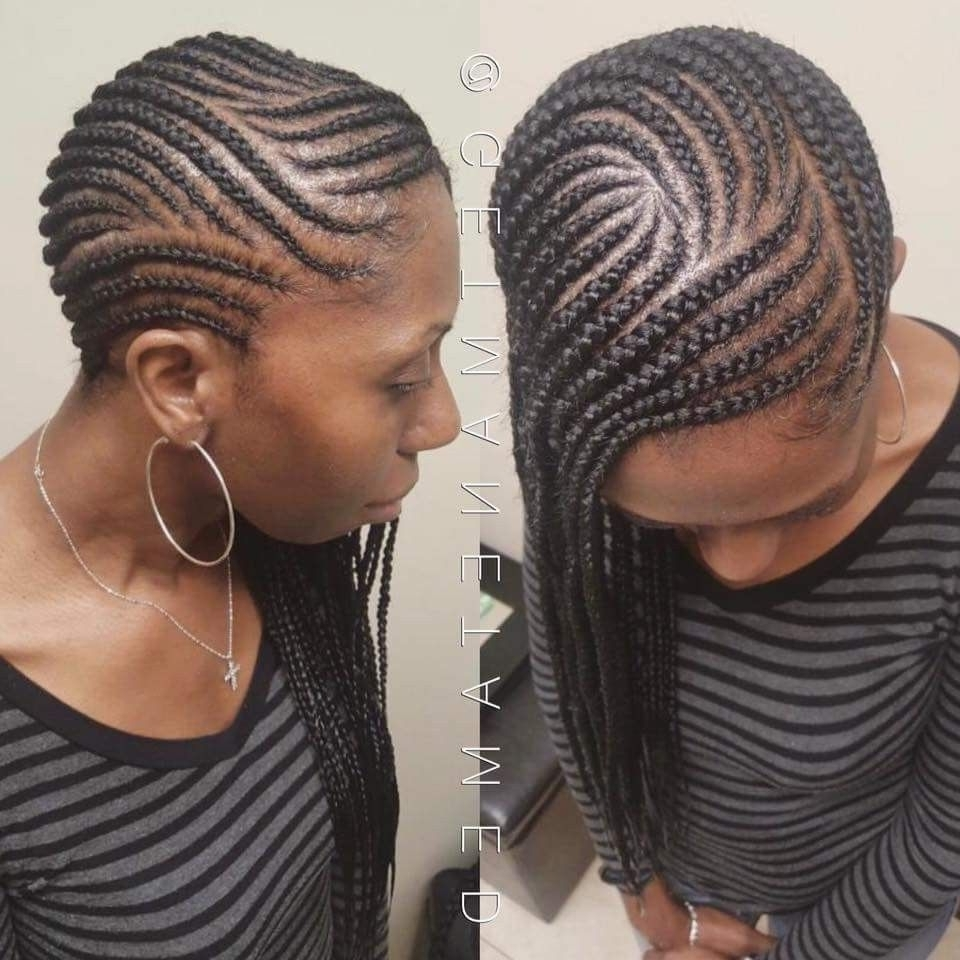 Popular Dynamic Side Swept Cornrows Hairstyles Regarding Lemonade Braids. Side Braids. Cornrows. Feed In Braid (View 12 of 15)