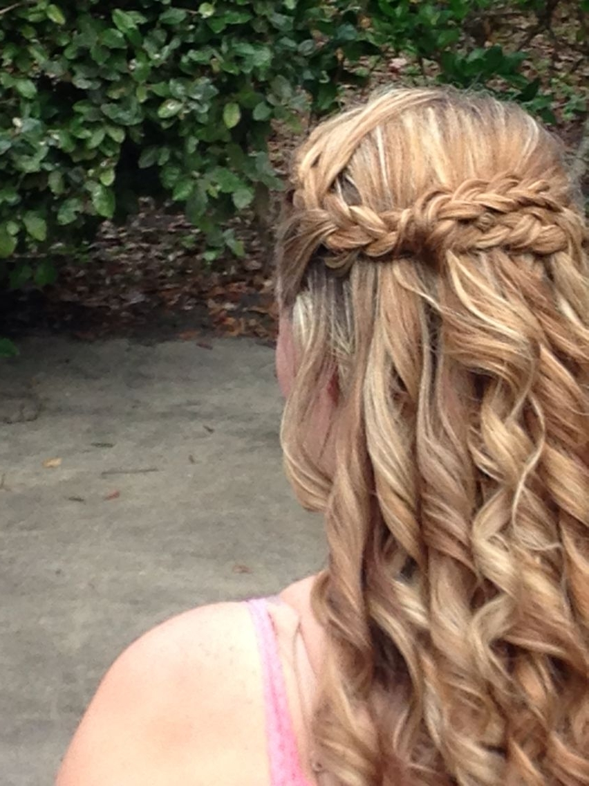 Popular Long Braided Flowing Hairstyles Inside Double Braided Hair For A Beach Wedding With Flowing Curls ~Angela (View 12 of 15)