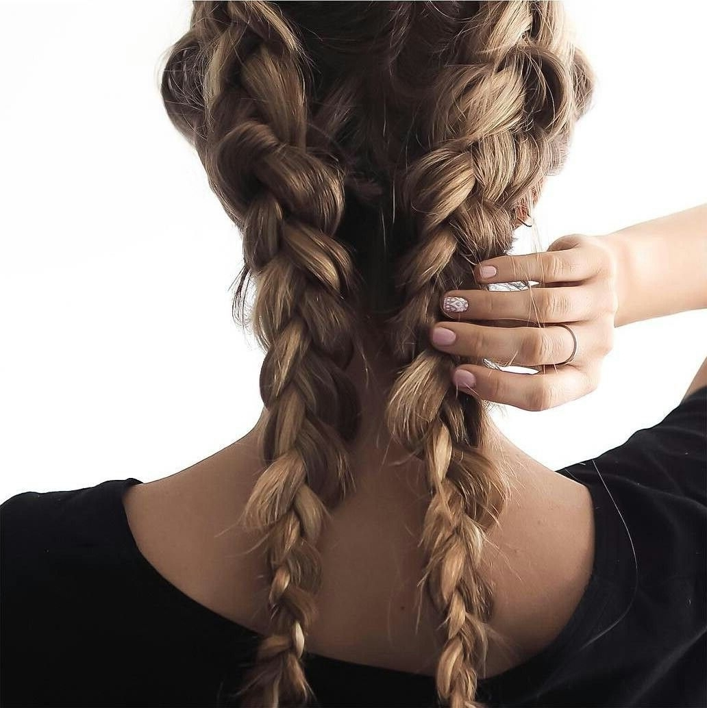 Popular Loose Hair With Double French Braids Within Pin? On Inspiration (View 10 of 15)
