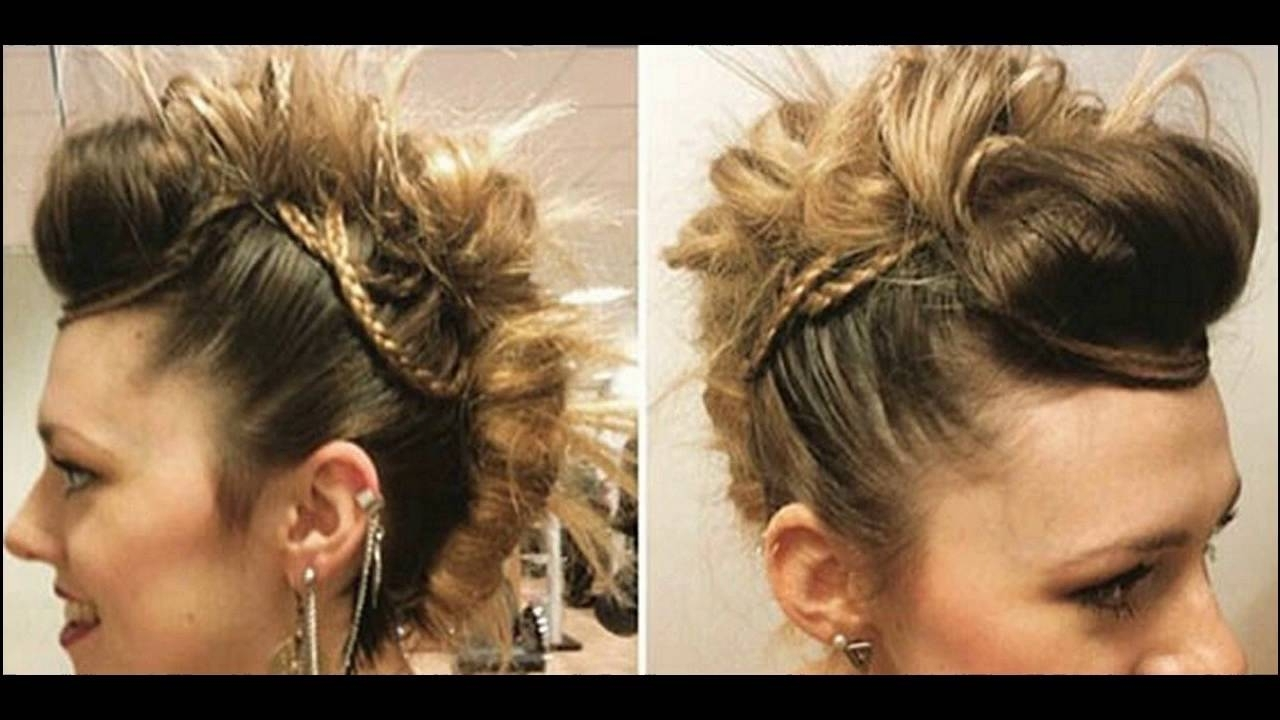 Popular Mohawk With Double Bump Hairstyles Inside Mohawk Twist With Micro Braids Hairstyle Gives Beautiful Look Steps (View 12 of 15)