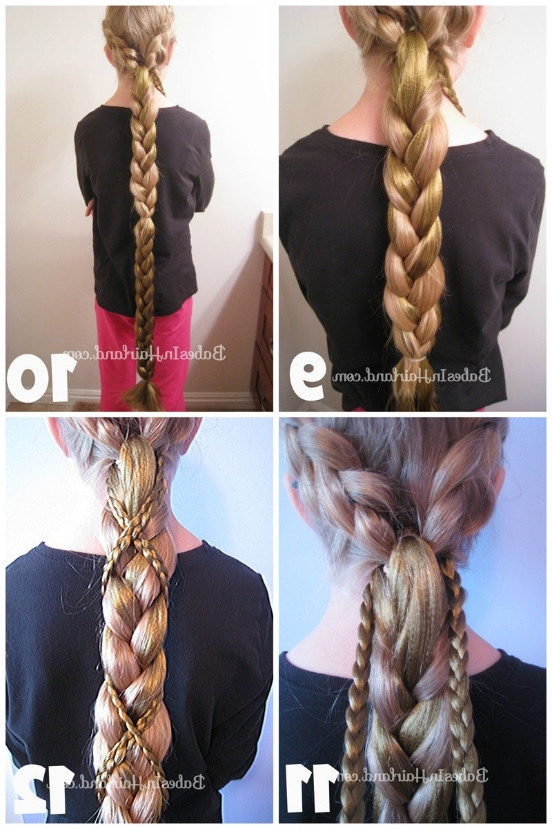 Popular Rapunzel Braids Hairstyles Within Rapunzel Hair Tutorial – Using Extensions – Babes In Hairland (View 13 of 15)