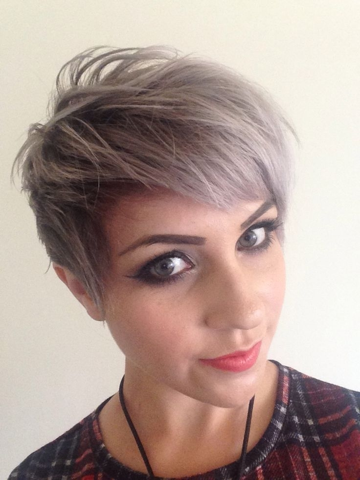 Popular Silver And Brown Pixie Haircuts With Silver Hair: 30 Gorgeous Silver Hairstyle Ideas (View 11 of 15)