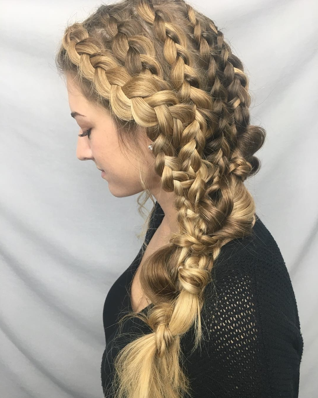 Popular Swooped Up Playful Ponytail Braids With Cuffs And Beads In Latest Hairstyles And Haircuts For Women 2018 – The Trending Hairstyles (View 11 of 15)
