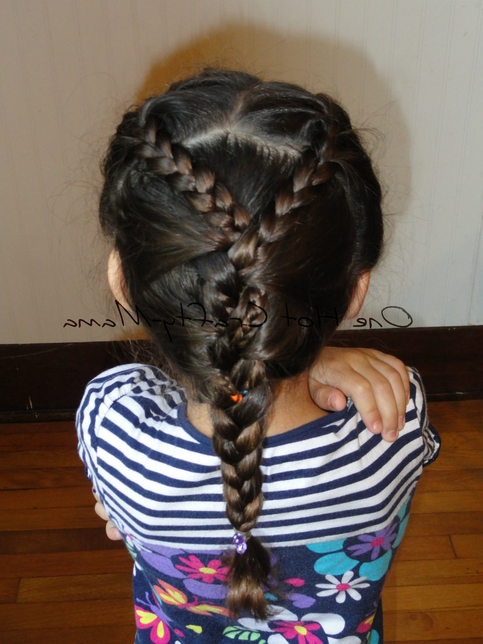 Popular Two Braids Into One With Regard To One Hot Crafty Momma: Two Braids Into One (View 11 of 15)