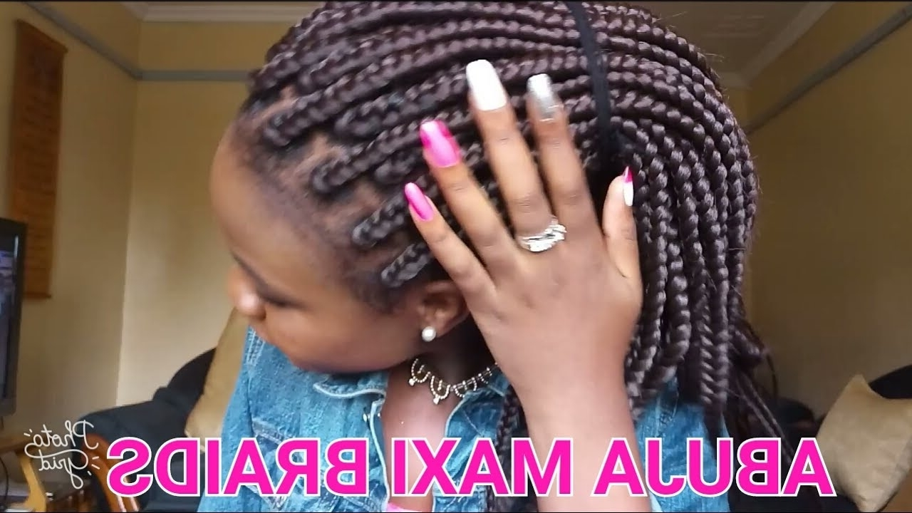 Preferred Abuja Cornrows Hairstyles Intended For Hair Review: Abuja Maxi From Darling Kenya – Youtube (View 5 of 15)