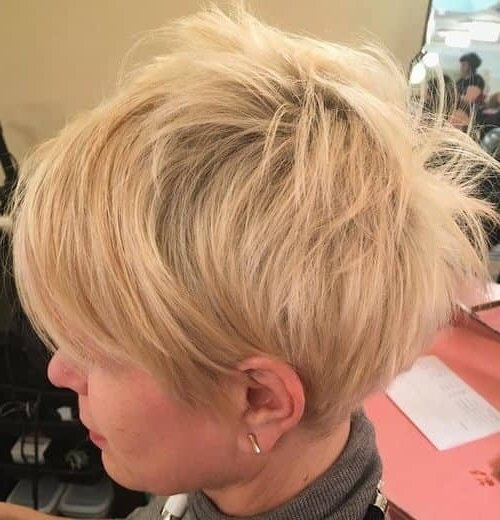 Preferred Ash Blonde Pixie With Nape Undercut In 50 Pixie Haircuts You'll See Trending In (View 10 of 15)