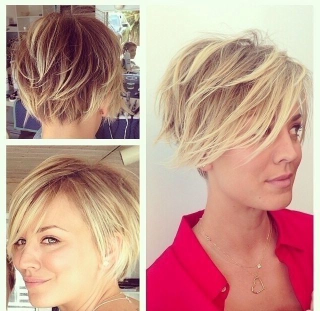 Photo Gallery Of Blonde Pixie Haircuts With Short Angled Layers