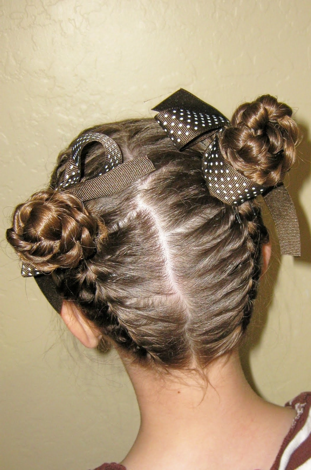 Preferred Braided Bun With Two French Braids Regarding Meet In The Middle ~ New Hairstyles Today (View 13 of 15)