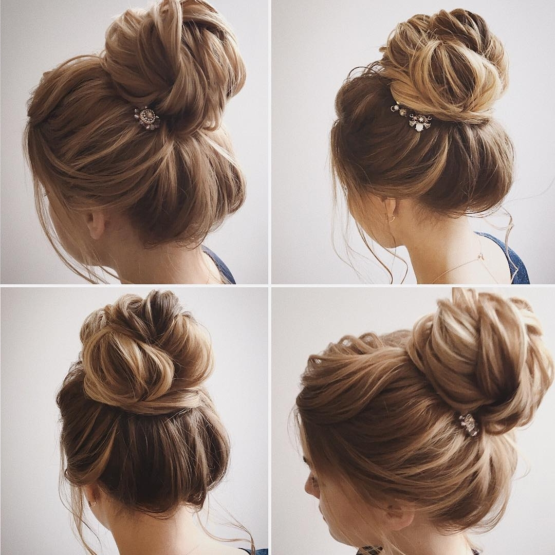 Preferred Casual Bun With Highlights With Easy And Pretty Chignon Buns Hairstyles You'll Love To Try (View 13 of 15)