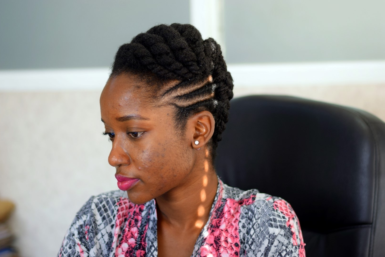 Preferred Cornrows Hairstyles For Work Intended For Work Style: Three Updos For 4c Natural Hair (View 1 of 15)