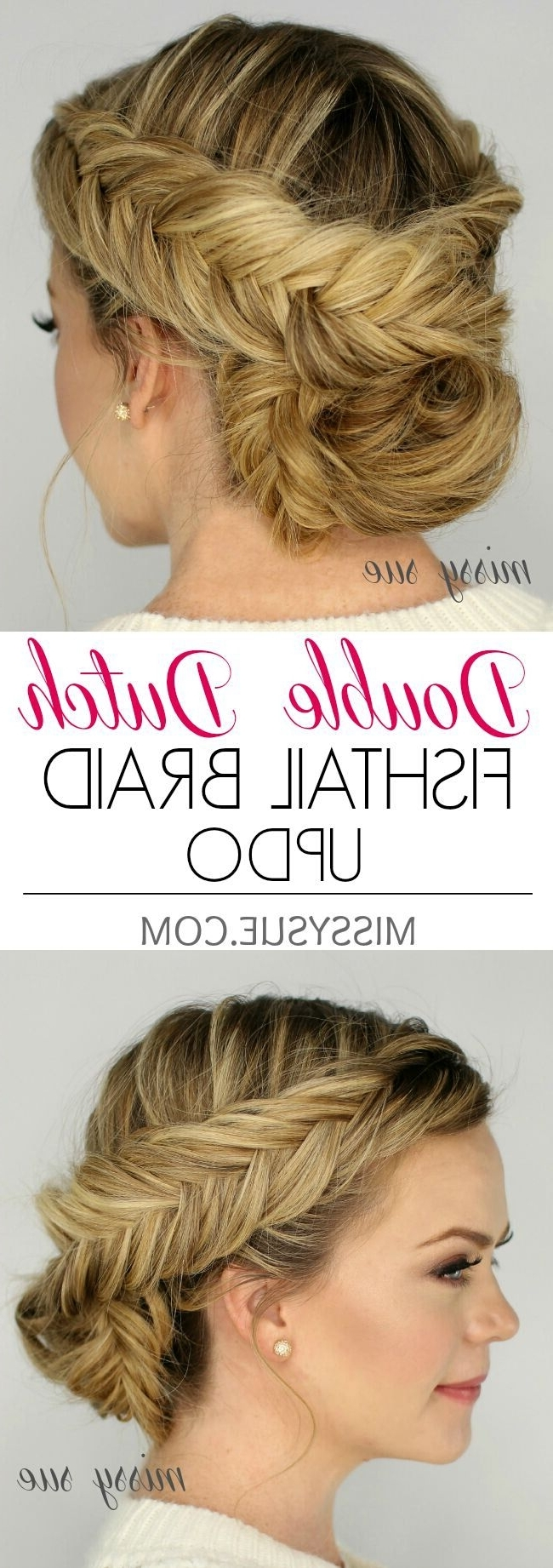 Preferred French Braids Crown And Side Fishtail Pertaining To 21 All New French Braid Updo Hairstyles – Popular Haircuts (View 13 of 15)