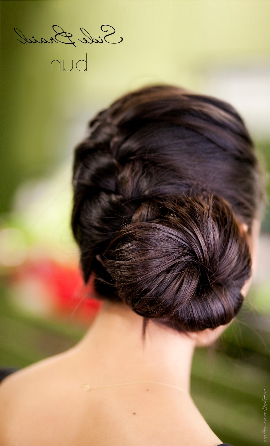 Preferred Low Side French Braid Hairstyles With Regard To Side Braid Bun Hair Tutorial (View 15 of 15)