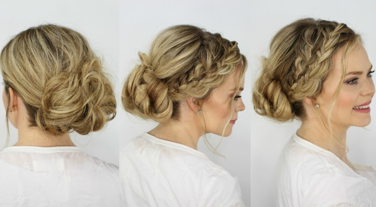 Featured Photo of Messy Bun With French Braids