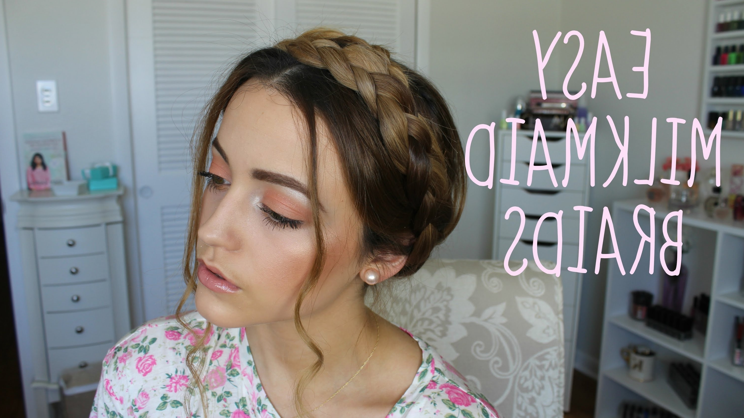 Featured Photo of Milkmaid Braids Hairstyles