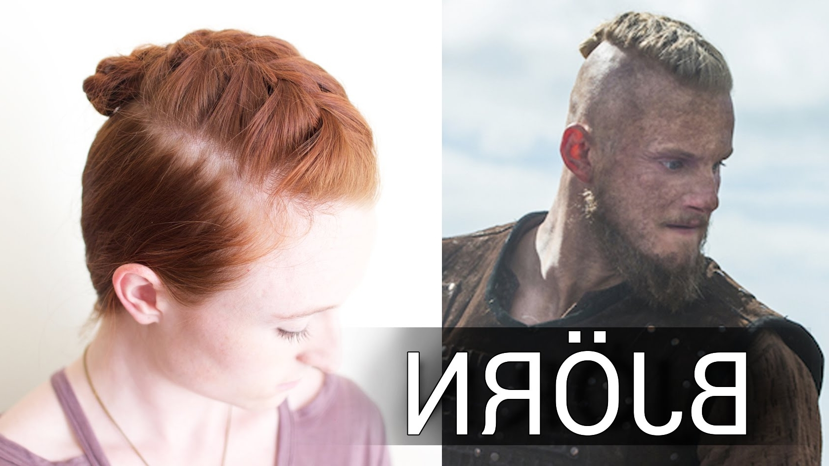 Preferred Mohawk With Double Bump Hairstyles Throughout Easy Viking Hair For Men – Bjorn's French Braid Undercut Style – Youtube (View 9 of 15)