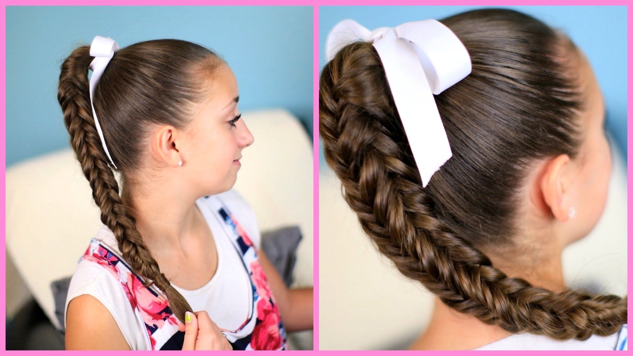 Preferred Reverse Braid And Side Ponytail Inside Box {four Sided} Fishtail Braid (View 8 of 15)