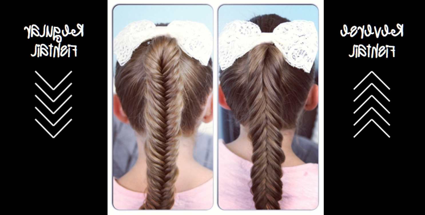 Preferred Reverse Braid And Side Ponytail Intended For Reverse Fishtail Braid (View 13 of 15)