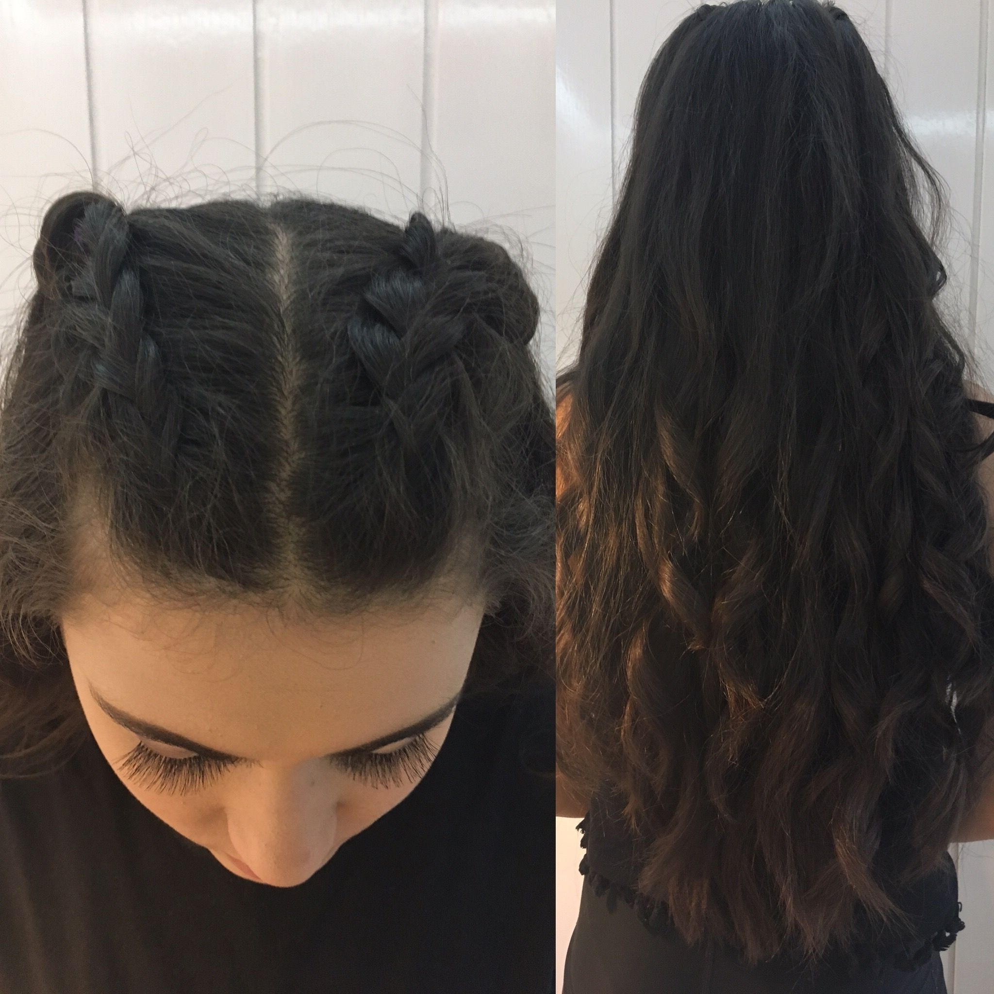 Preferred Romantic Curly And Messy Two French Braids Hairstyles Inside Prom Hair (View 11 of 15)