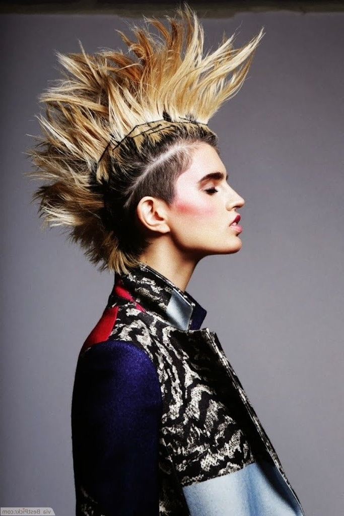 Preferred Spiked Blonde Mohawk Haircuts Within Spiky Blonde Punk Mohawk Haircut For Women ❥❥❥ Http://bestpickr (View 14 of 15)
