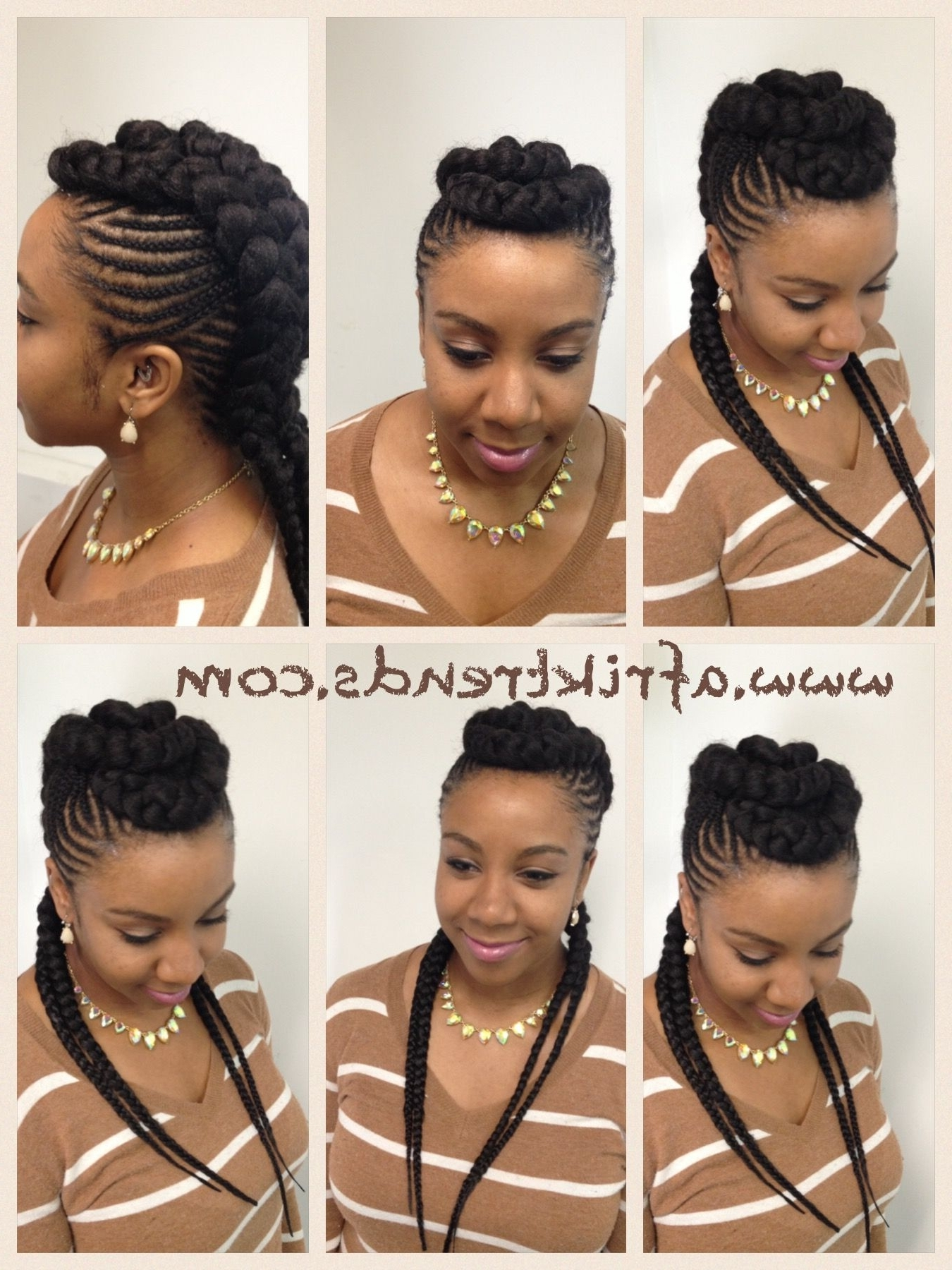 Princess Crown Braid: One Of The Best Updated Version For Teenage With Regard To Famous Curvy Ghana Braids With Crown Bun (View 2 of 15)