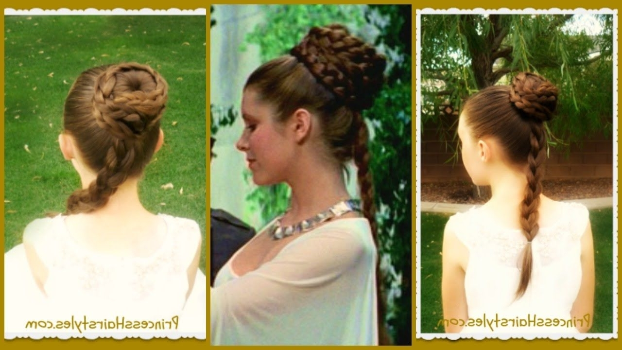 Princess Leia Hairstyle, Spiral Braid Ceremony Updo, Star Wars With Regard To Preferred Spirals Rolled Braided Updo (View 9 of 15)