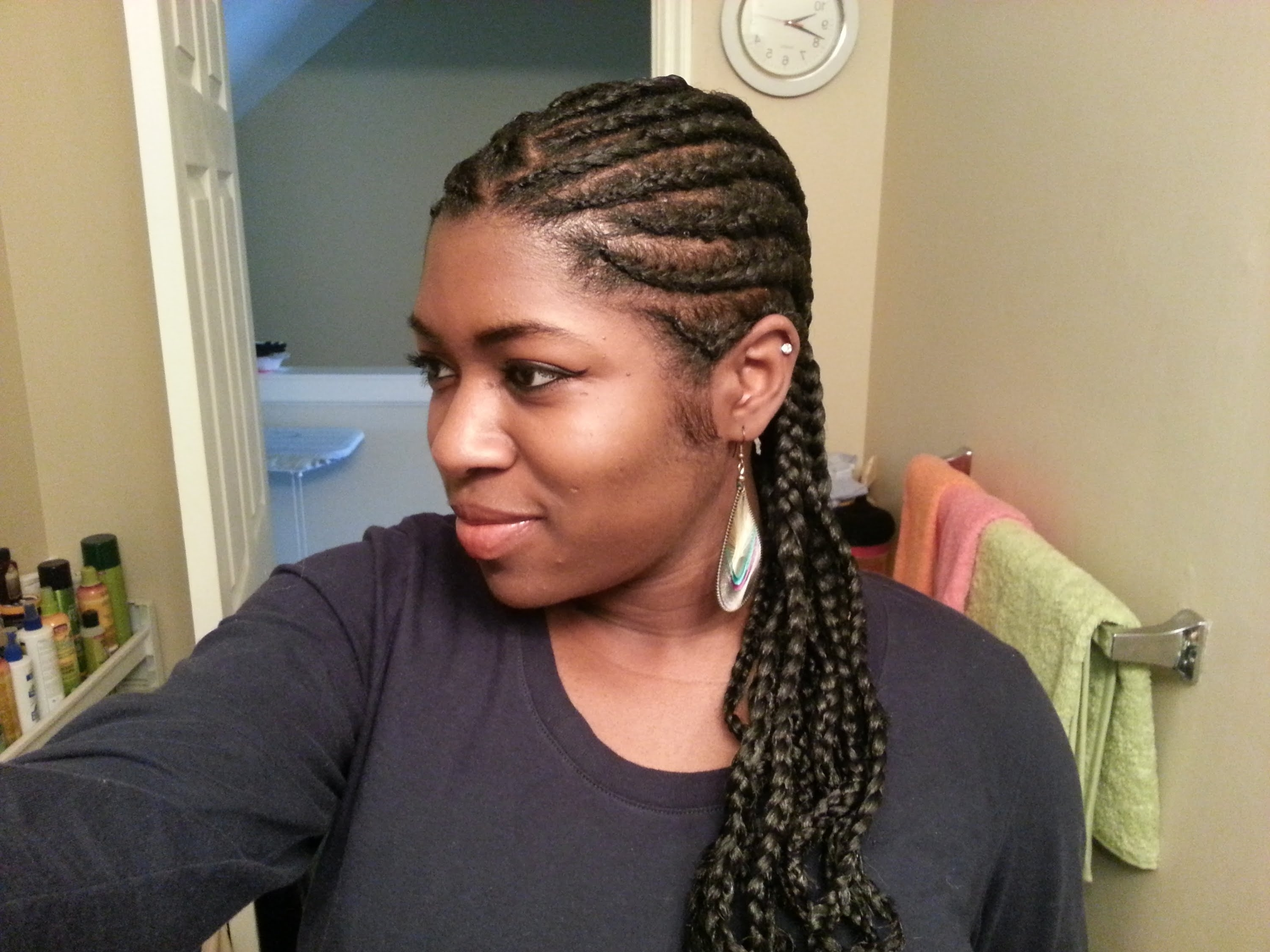 Protective Hairstyle – Youtube Pertaining To 2017 Cornrows Hairstyles With Extensions (View 8 of 15)