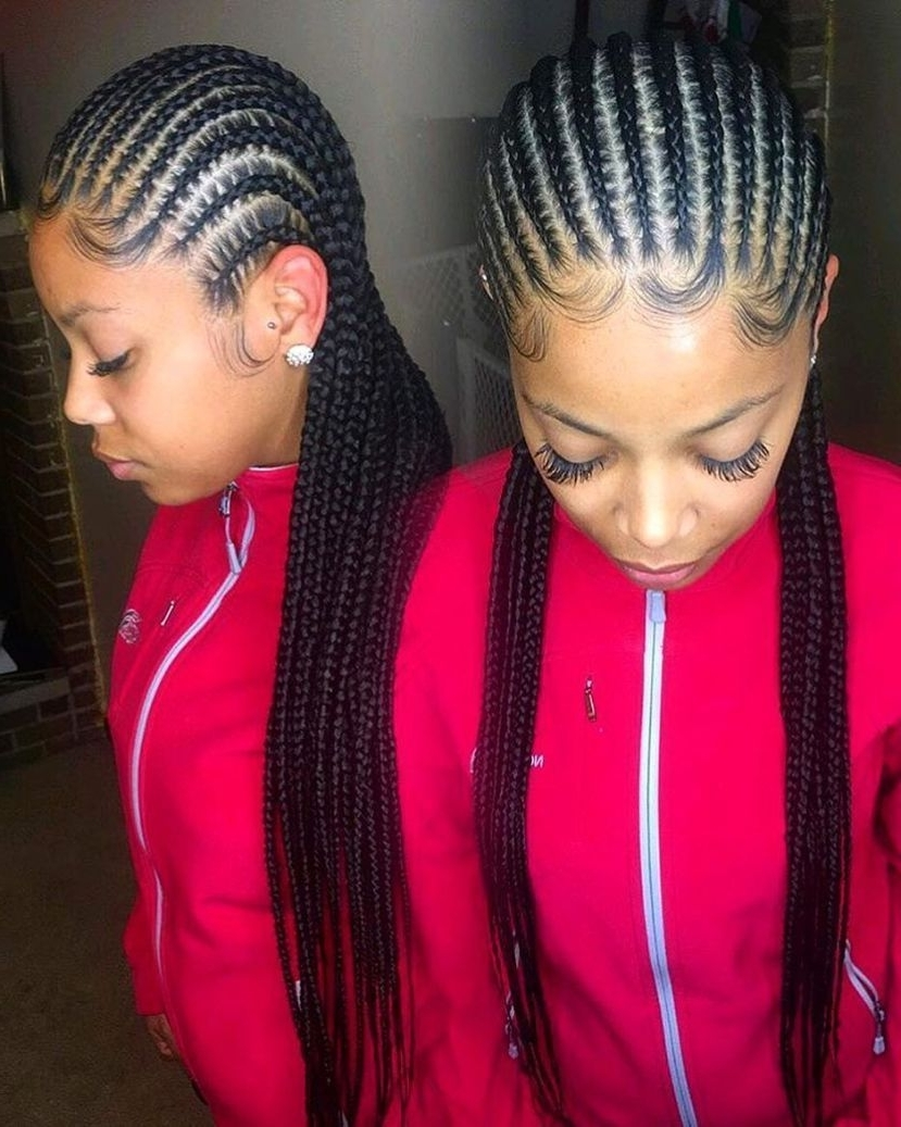 2019 Latest Cornrows Hairstyles To The Back