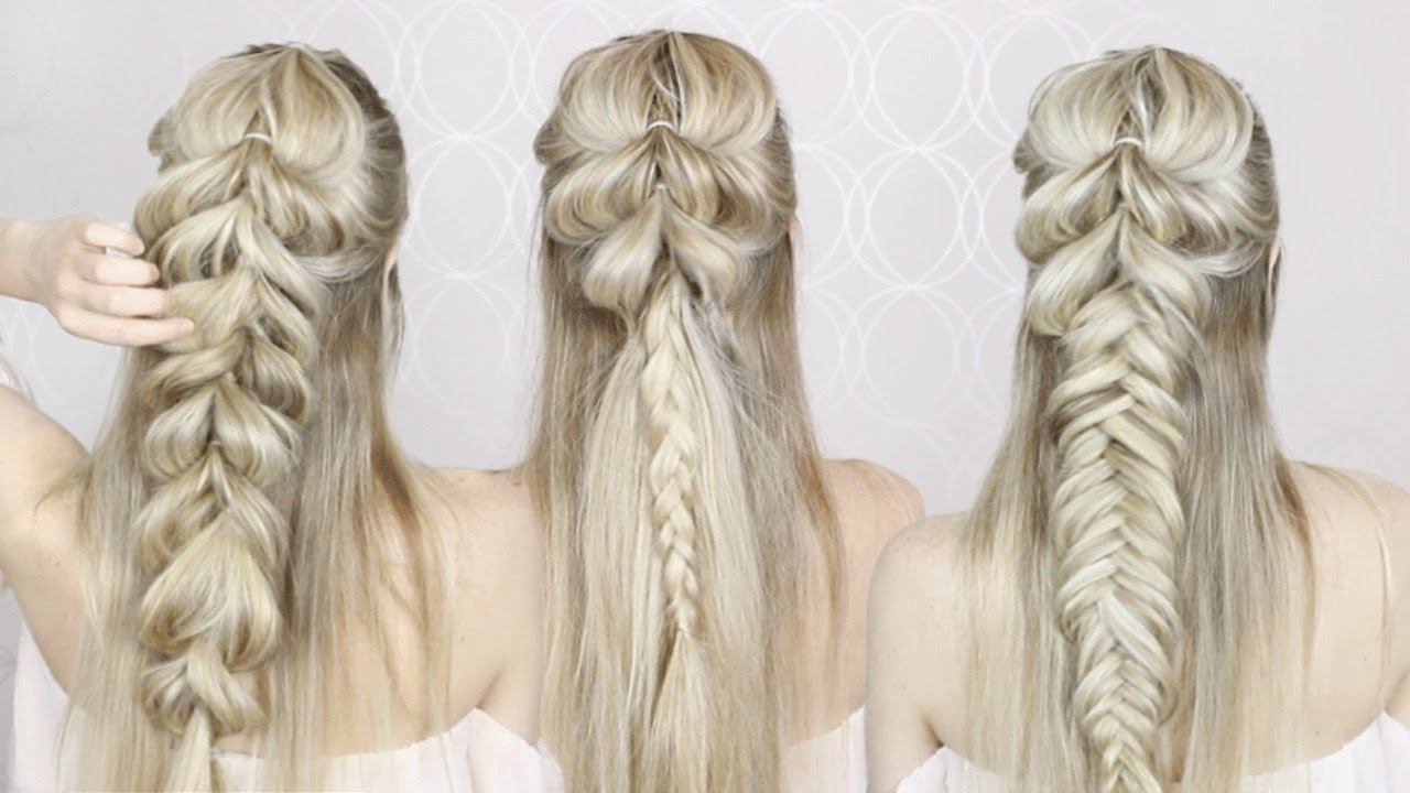 Featured Photo of Upside Down Fishtail Braid Hairstyles