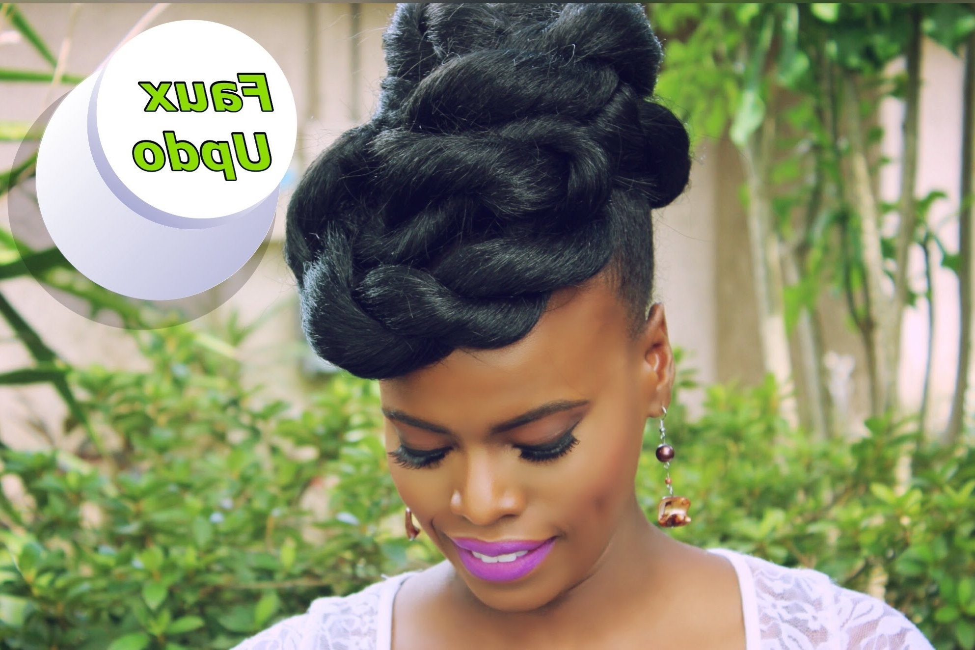 Quick & Easy Faux Updo Natural Hair *protective Style* – Youtube Throughout Widely Used Jumbo Double Twisted Updo (Gallery 14 of 15)