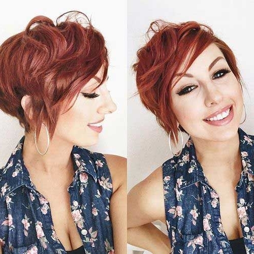 Really Stylish 10+ Red Pixie Cut For Ladies (View 10 of 15)