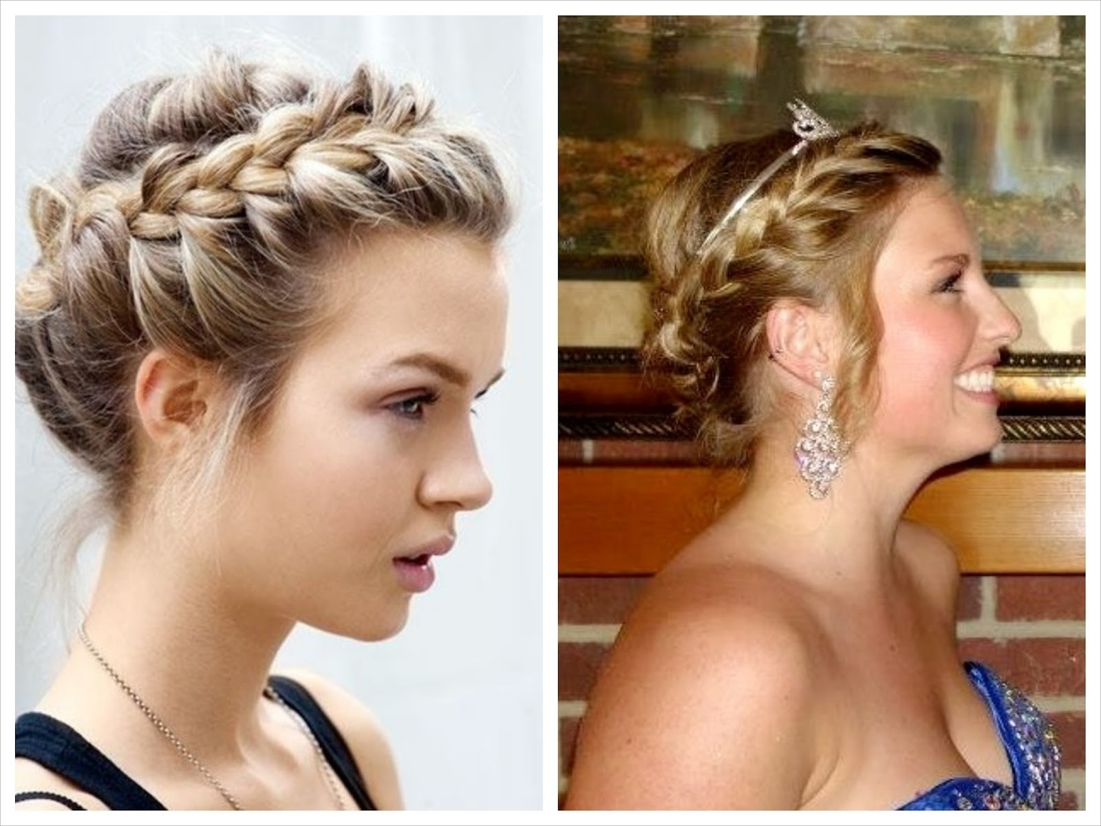 Recent Braided Crown With Loose Curls With Pinned Up Pretty: Braided Crown Updo (Gallery 10 of 15)