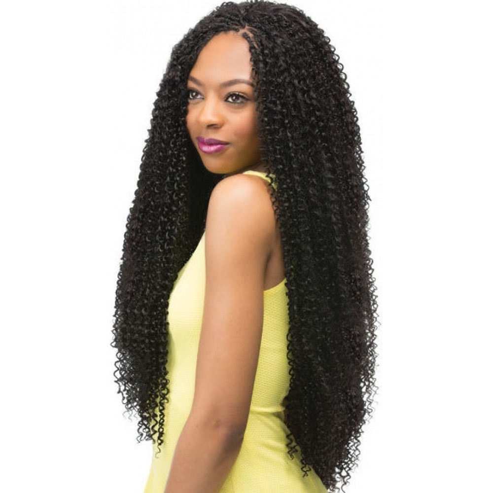 "Recent Braided Hairstyles With Curly Weave Within Outre X Pression Braid – Jerry Curl 24"" (View 11 of 15)"