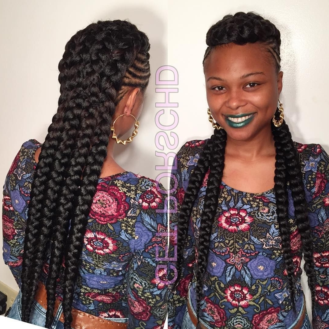 Recent Chunky Mohawk Braid With Cornrows Inside 70 Best Black Braided Hairstyles That Turn Heads (Gallery 1 of 15)