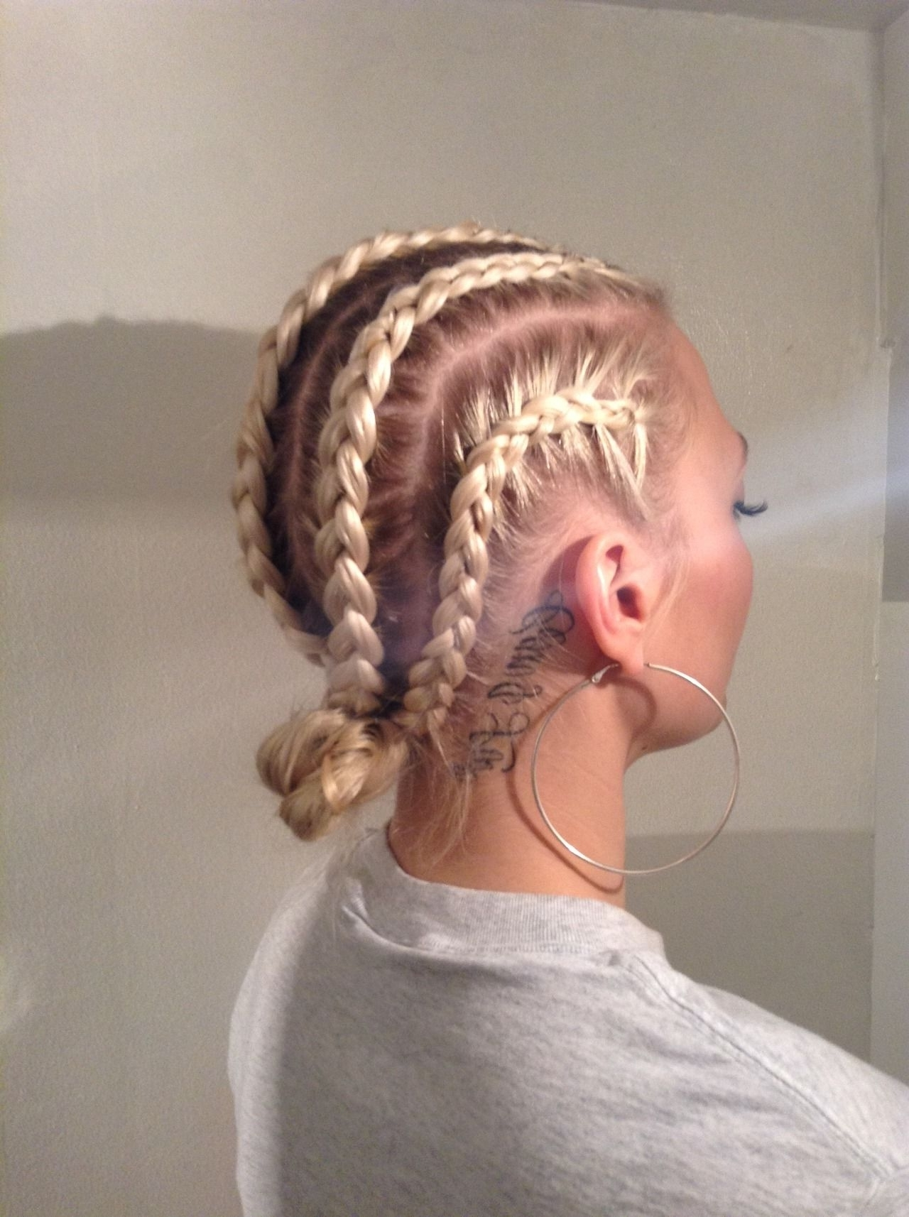 Recent Cornrows Hairstyles For White Girl Within If They're White And They Do Cornrows On Their Hair. (Gallery 5 of 15)