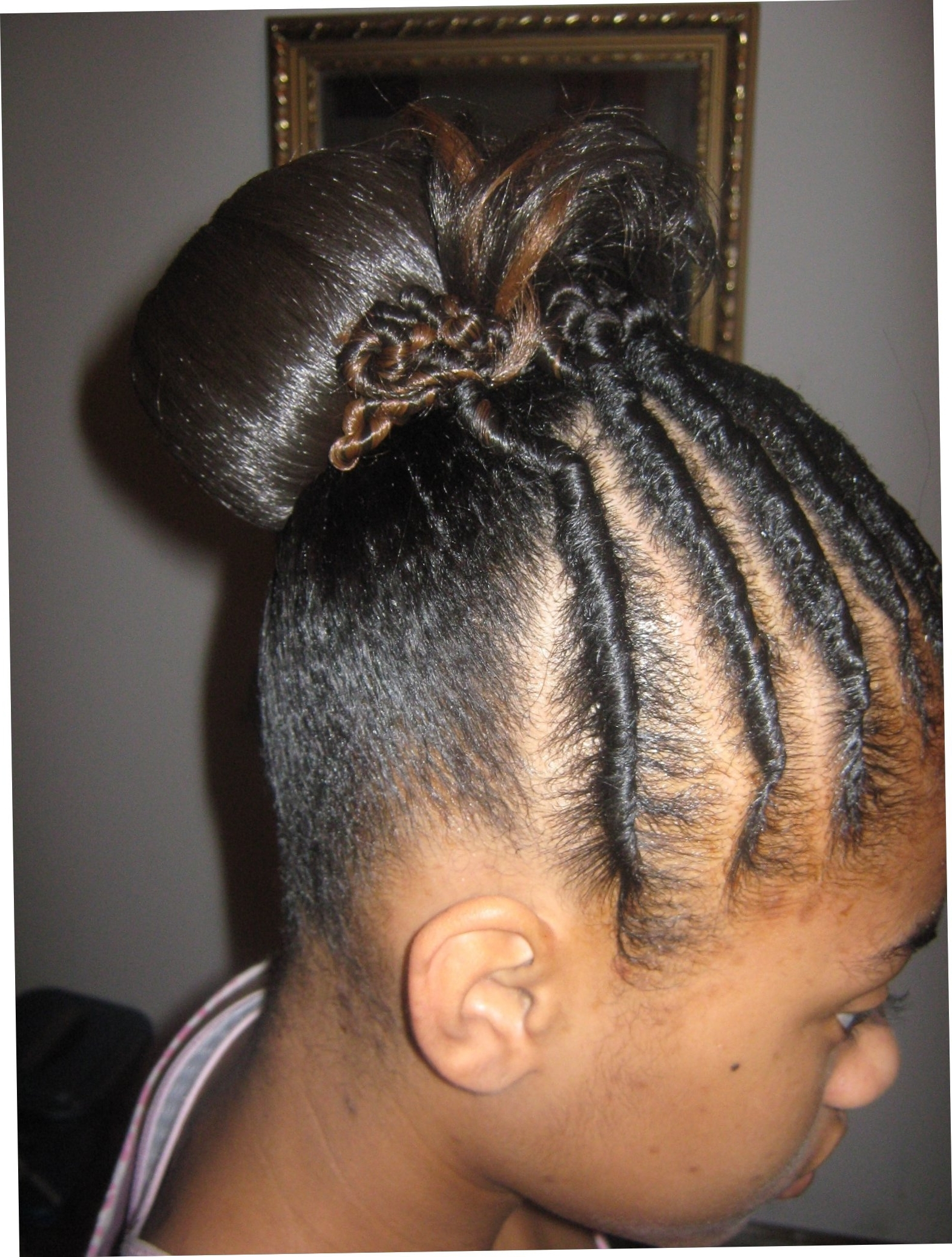 Recent Cornrows With A Twist Throughout Photo: Natural Flat Twisted Cornrow Hairstyles Flat Twist (View 4 of 15)