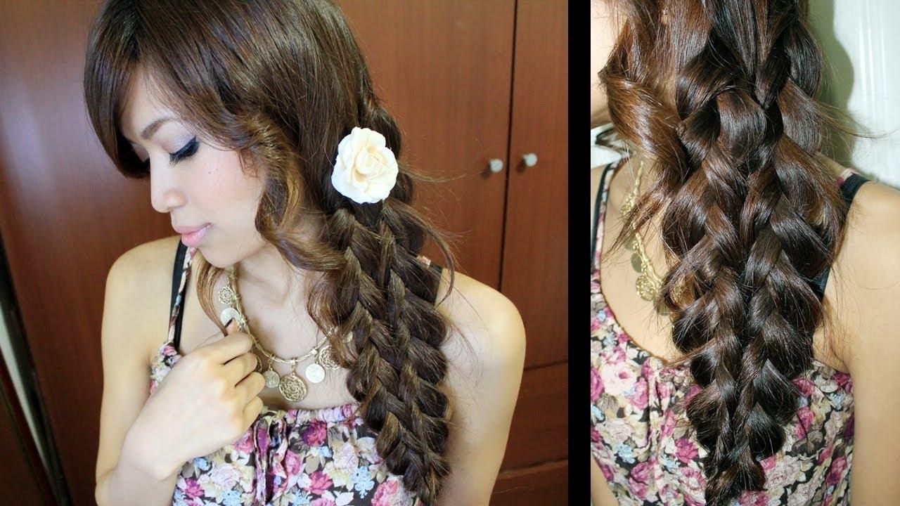 Recent Elegant Bow Braid Hairstyles Throughout Mermaid Tail Braid Hairstyle Hair Tutorial – Youtube (View 10 of 15)